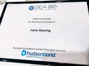 MBEA - Highly Commended for 2016 Business Excellence